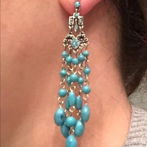 Jewelry - Dangling earrings- turquoise